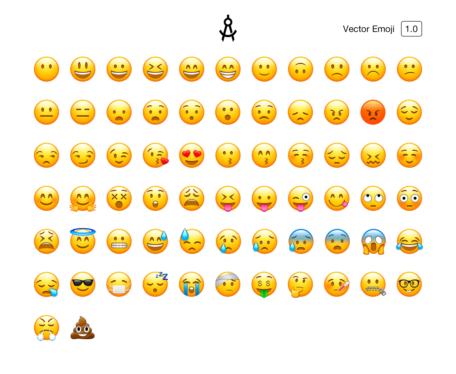 Vector Emoji Common Emojis recreated in vector  Easily edit