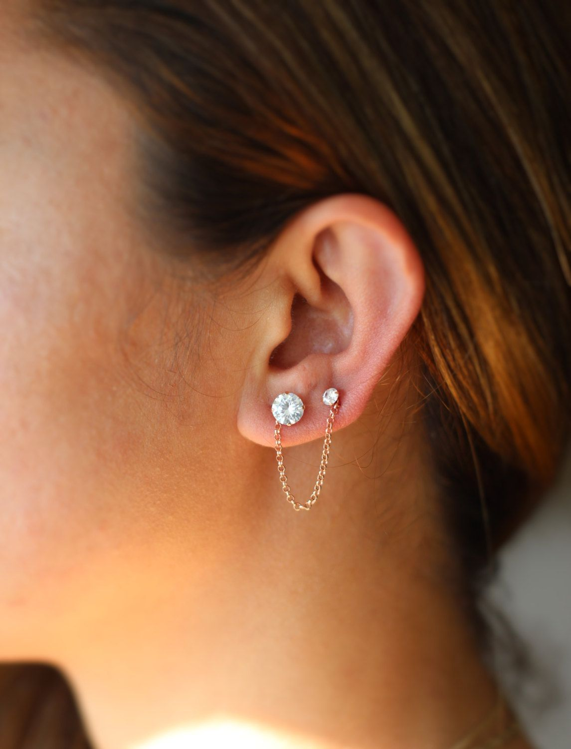 Cartilage Chain Earrings