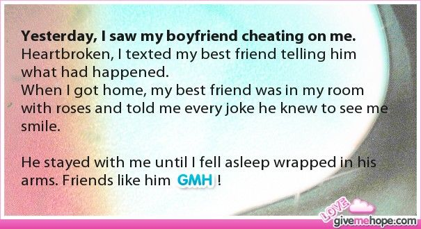 Yesterday, I saw my boyfriend cheating on me  | Men Dating