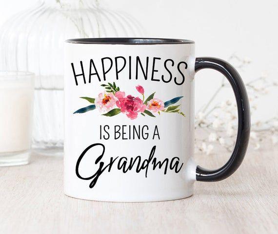 New Grandma Mug, Happiness is Being A Grandma, New Grandma Gift, Grandma to Be Gift, Personalized Gr #newgrandma