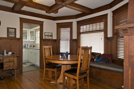 Wood Flooring or Paneling - Cabinetry and Built-in Furniture. 1909 Bungalow in Long Beach, CA.