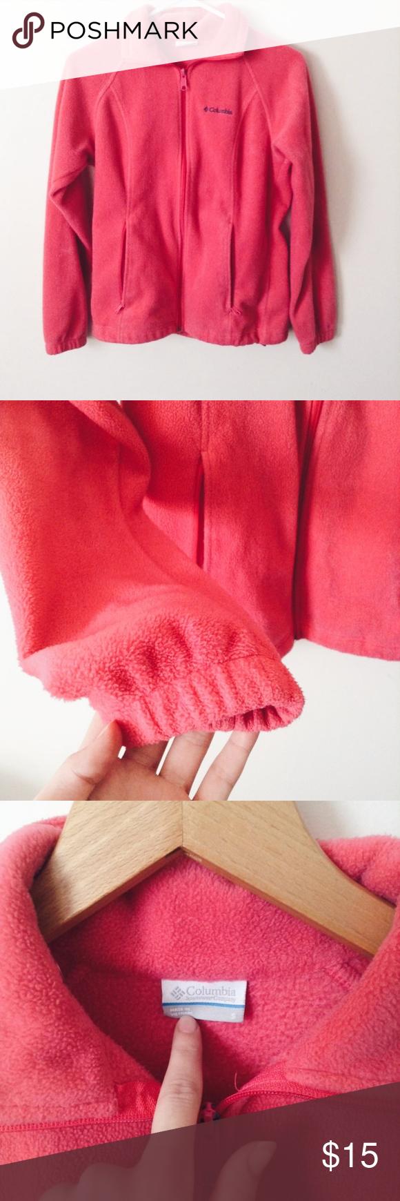 Pink columbia fleece jacket pinterest columbia pink black and