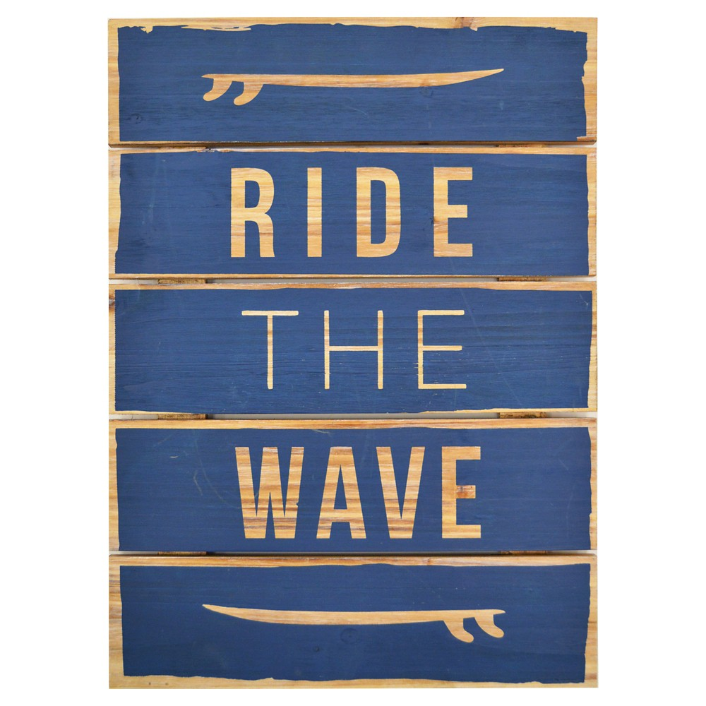 Ride the wave wall art