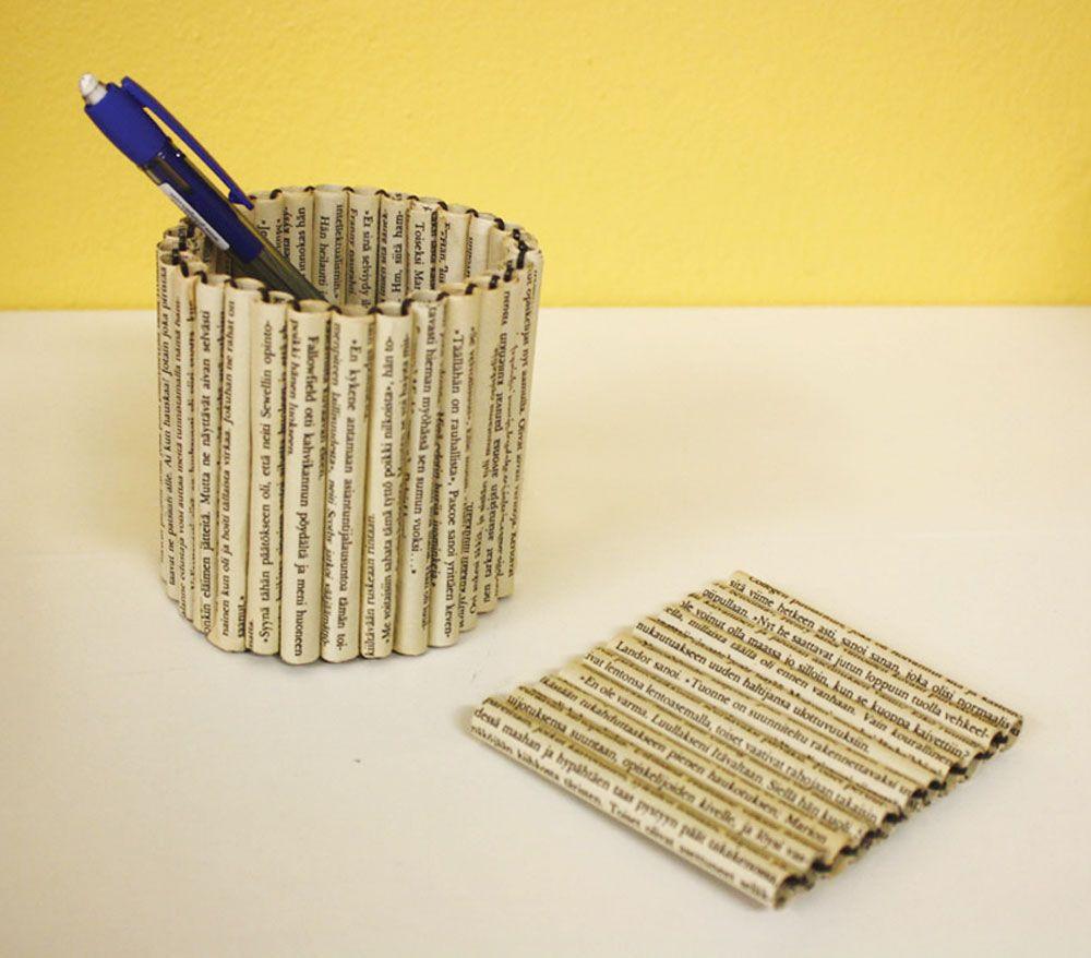Tuunausvinkki: Tee paperista helppo kynäpurkki! Sisältää ilmaiset ohjeet!