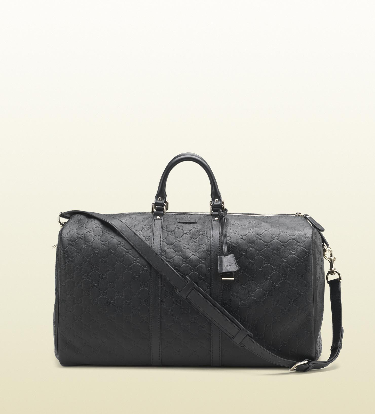 94f8473acaa0e1 Gucci Large black guccissima leather carry-on duffel bag | Clothing ...
