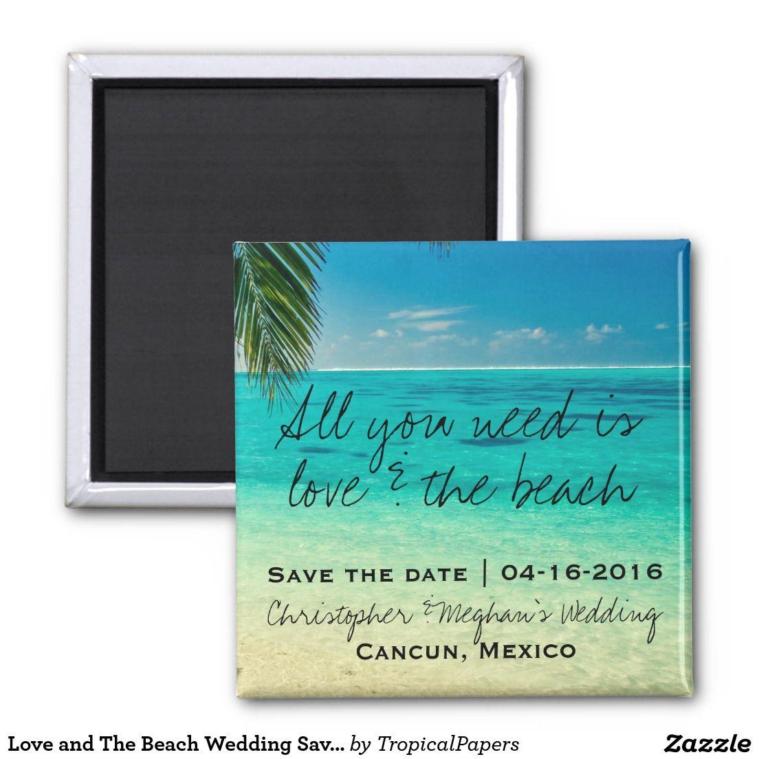 Teal beach wedding  Love and The Beach Wedding Save Date Magnets  Beach weddings