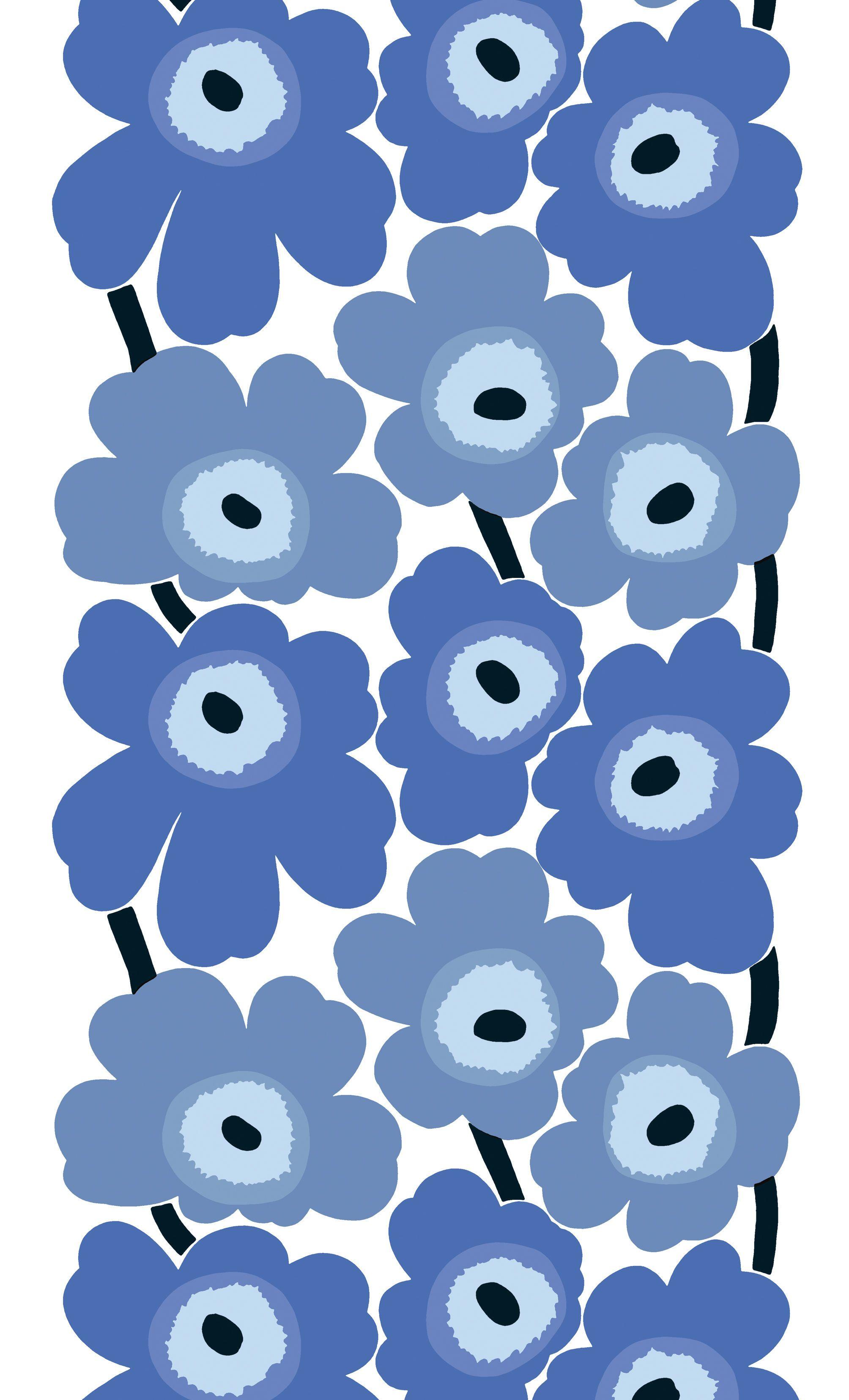papier grosses fleurs bleues printable impression sur. Black Bedroom Furniture Sets. Home Design Ideas