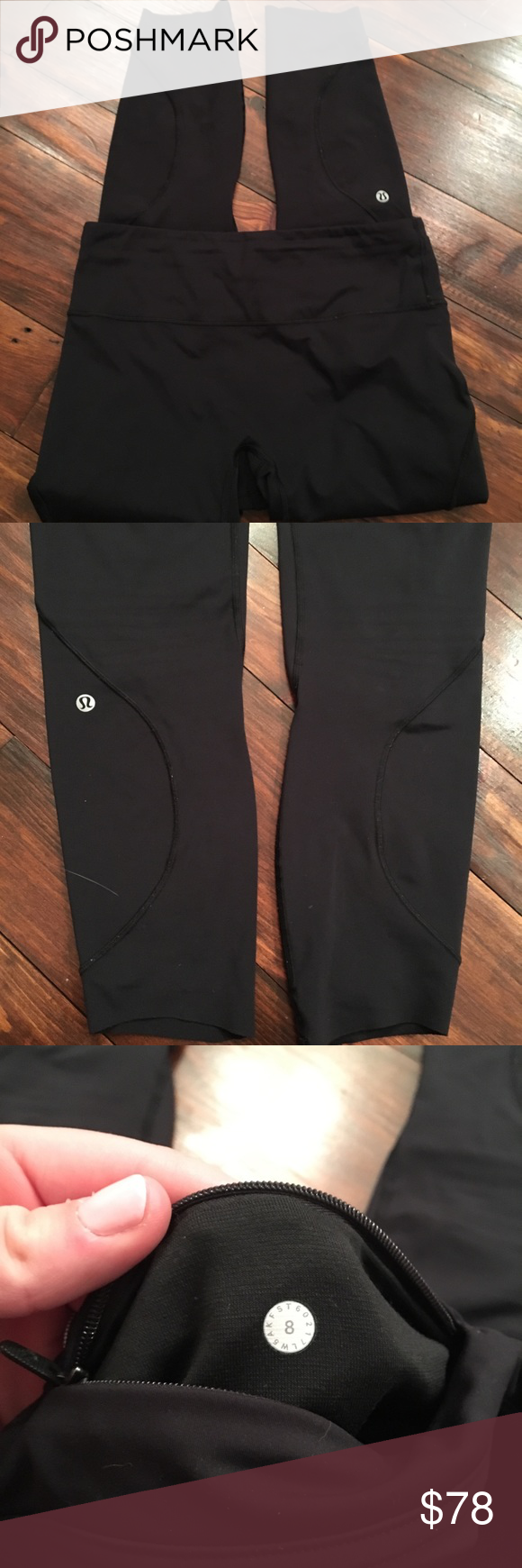 a1b4a849bb7fa6 Lululemon leggings 7/8 length size 8 lululemon leggings. The style is  unknown but