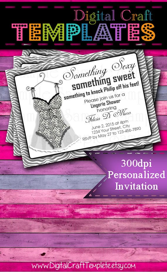 Personalized Printable Invitations | Bachelorette Lingerie Party | Bride's Night | Bridal Party |  #215