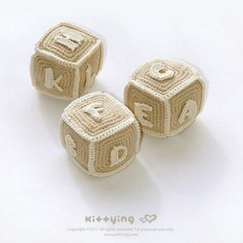 Alphabet Blocks (S to Z) by Kittying  This adorable little pattern can be found here on Craftsy.  Imagine this crocheted up in bright colours …