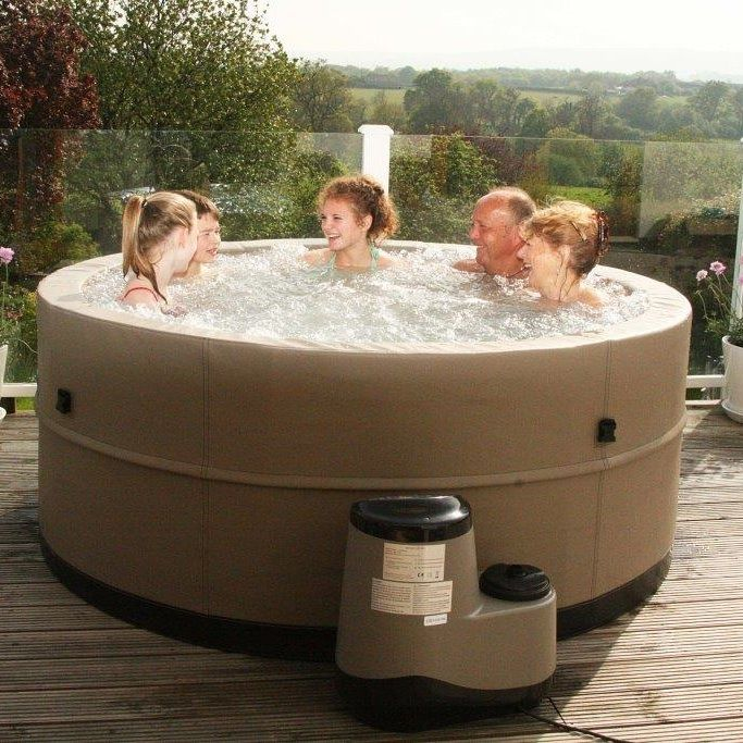 Our New Foam Wall 5 Person Swift Current Portable Spa Hot