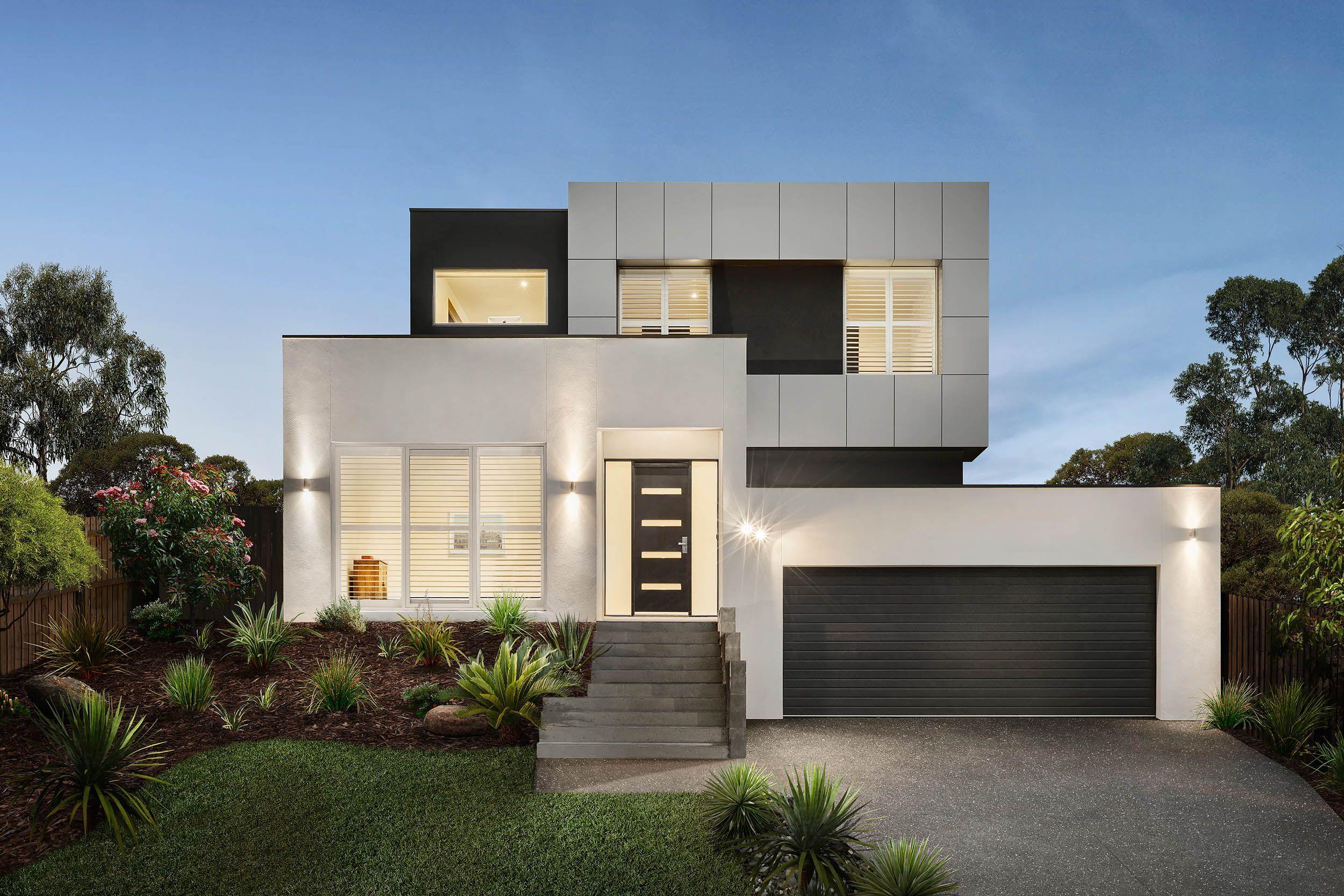Custom Facade Duplex Design Facade House