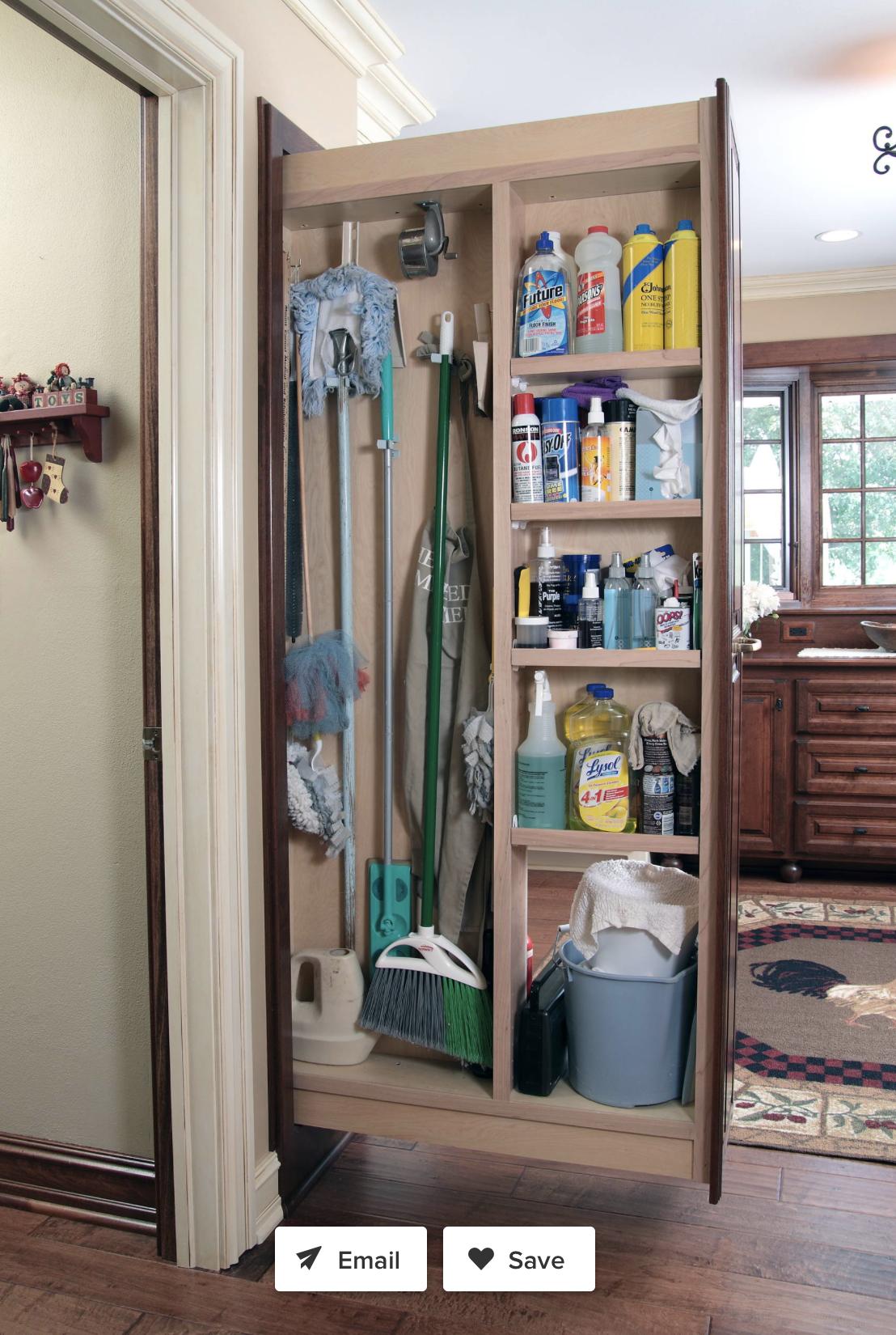 Broom Closet Kitchen Storage Space Kitchen Cabinet Storage Pantry Design