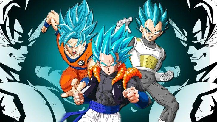 Super Saiyan Blue Goku Vegeta Gogeta Dbs Wallpaper Goku E Vegeta Chibi Dragon Ball