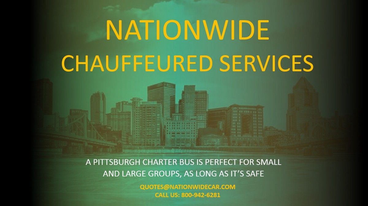 A pittsburgh charter bus is perfect for small and large