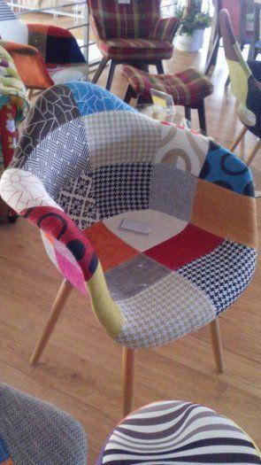 Nové design moderní židle barevné - patchwork - 1