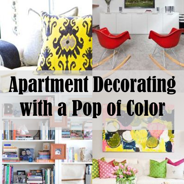Apartment Decorating Without Painting apartment decorating with a pop of color | white box, apartments