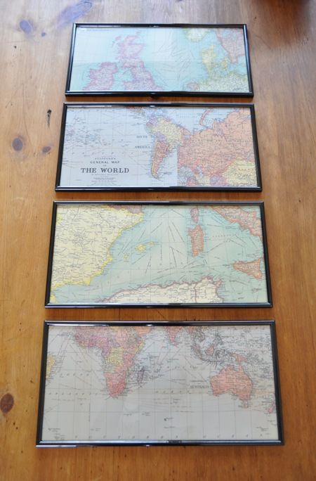 The Painted Hive | Easy Budget Wall Art USING KMART FRAMES AND MAP GIFT WRAP