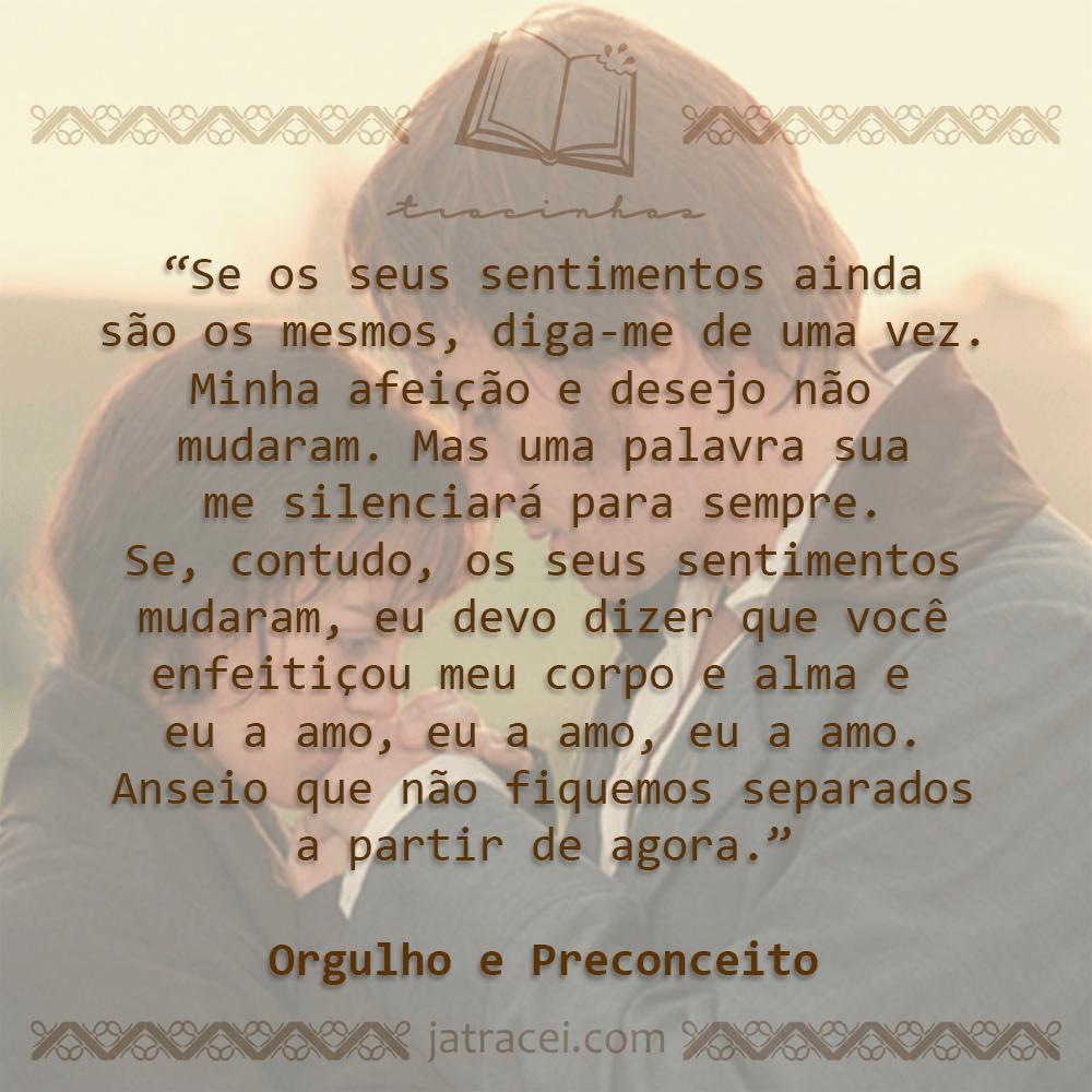 Fabuloso Livro - Orgulho e Preconceito | Quotes / Trechos / Frases  TO65