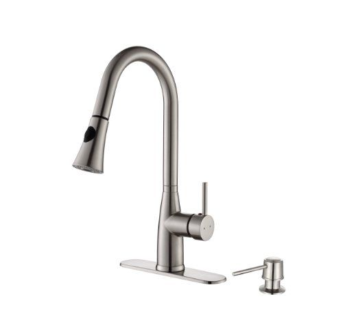 Kpf 2300 Kraus Single Lever Pull Down Kitchen Faucet And Soap