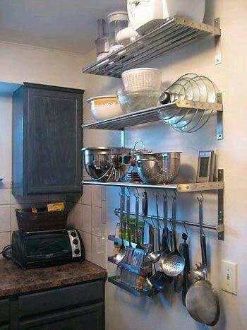 Repisa,cocina,decora,ideas -Via Facebook Monoambiente Pinterest
