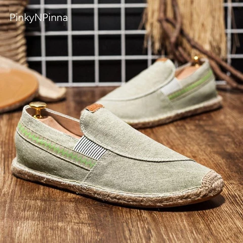 Fashion Mens Casual Canvas Sneakers Shoes Driving Moccasins Loafers Flats Soft