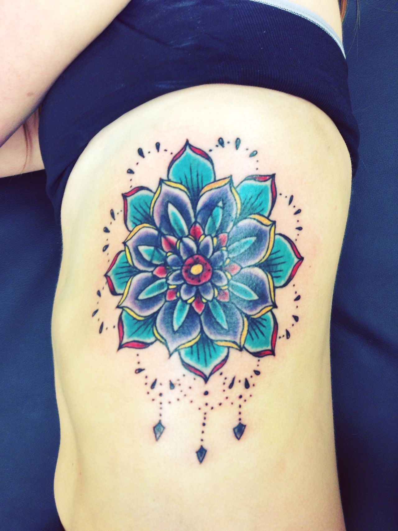 Dripping Mandala Side Tattoo Tattoos Pinterest Tattoos Lotus