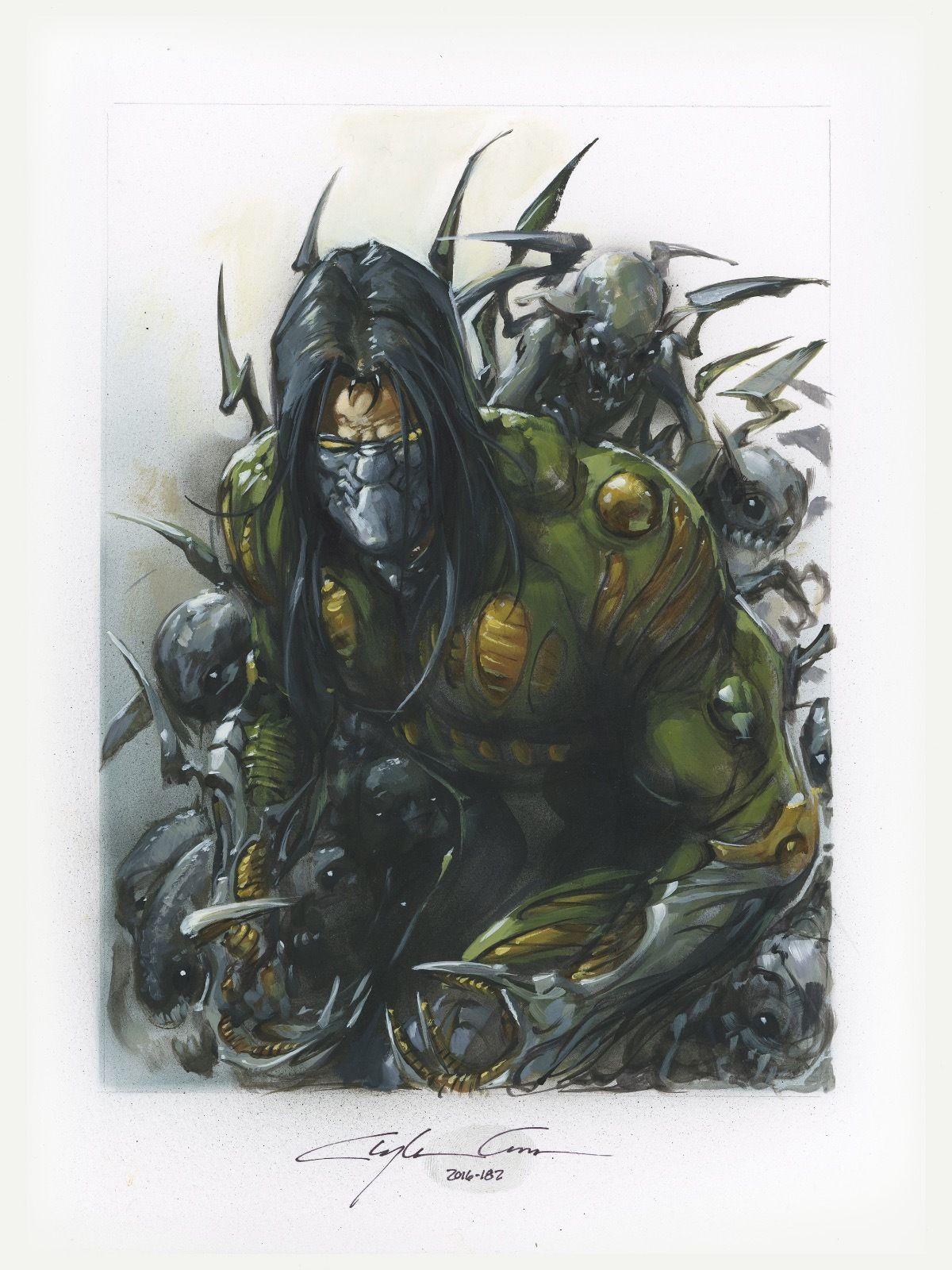 Clayton Crain original acrylic painting The Darkness Comic Art Auction