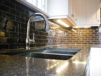 Subway Tiles Backsplash On Brown Subway Tile Kitchen Backsplashes