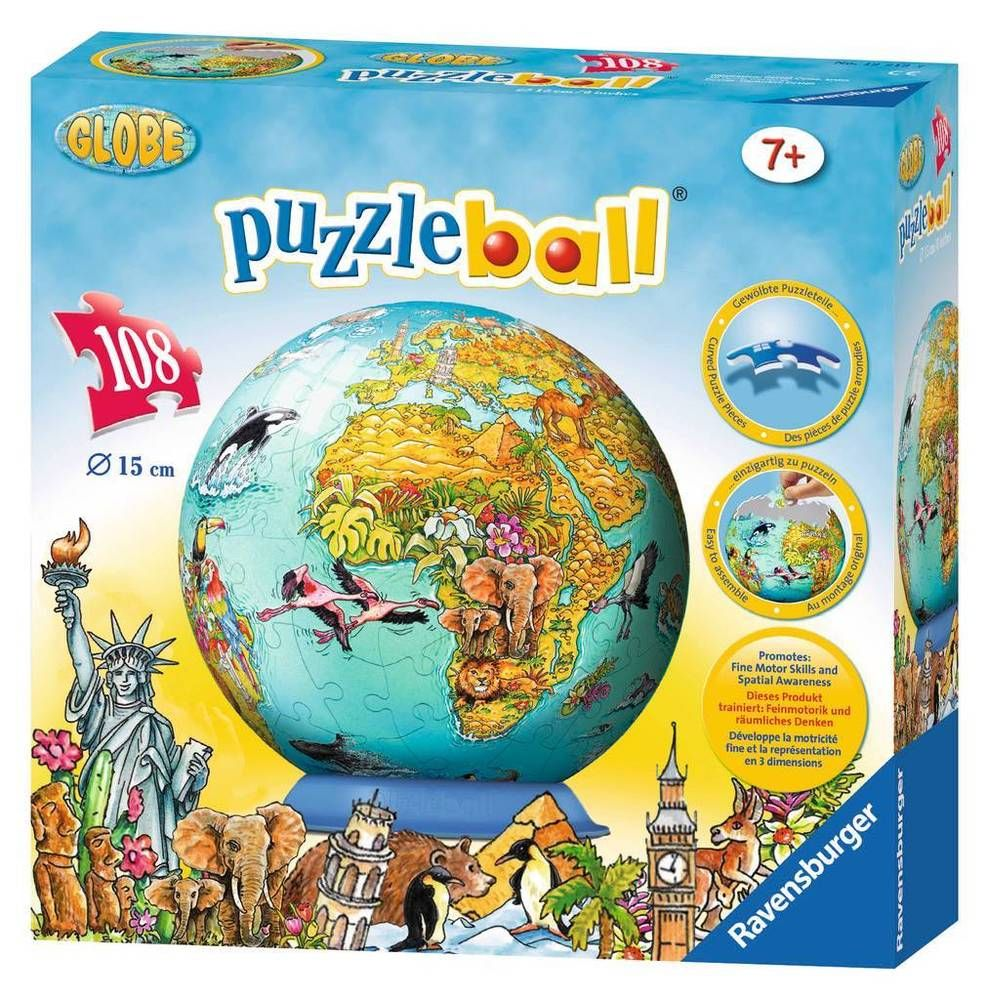 New kids 3d jigsaw puzzle 108 piece ravensburger childrens world new kids 3d jigsaw puzzle 108 piece ravensburger childrens world map age 7 ravensburger gumiabroncs Image collections