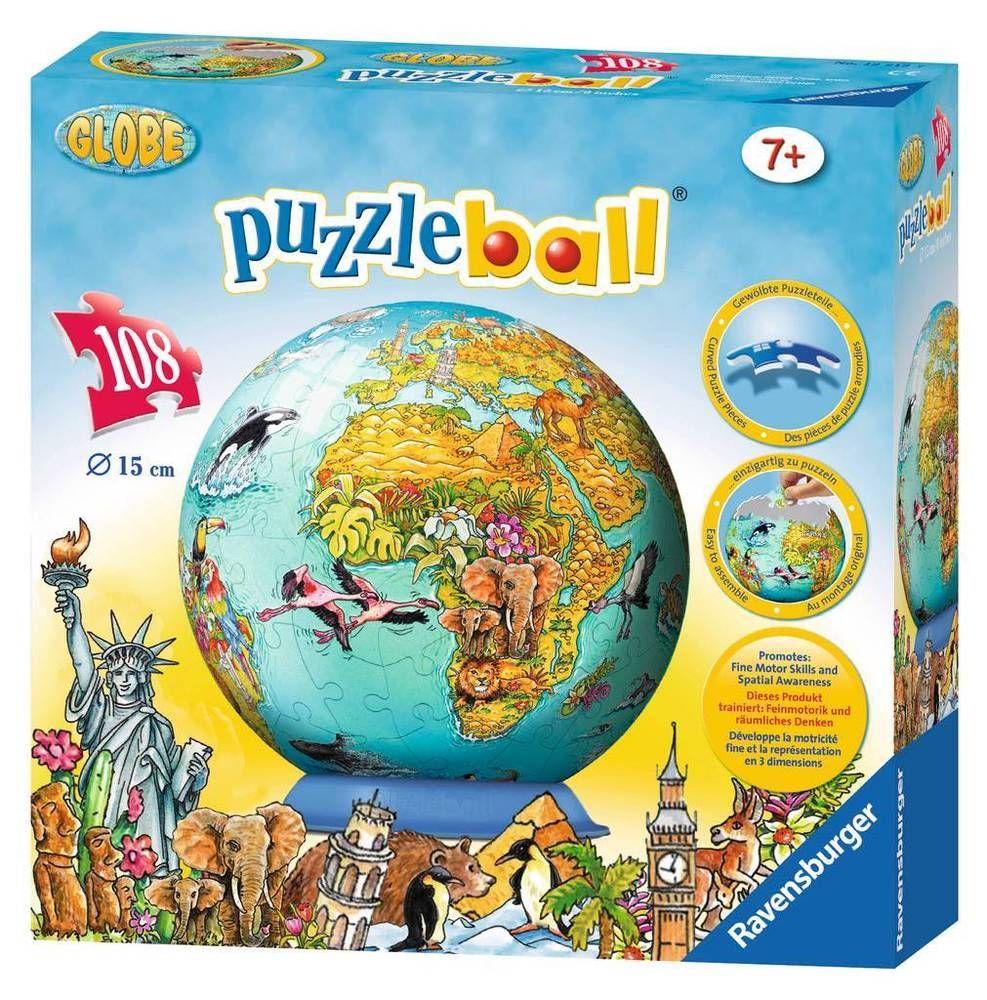 NEW Kids D Jigsaw Puzzle Piece Ravensburger CHILDRENS WORLD - Ravensburger satellite world map puzzle