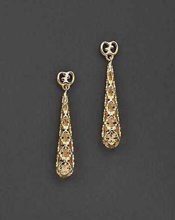 745ab27aceb Gucci Diamantissima 18K Yellow Gold Small Drop Earrings