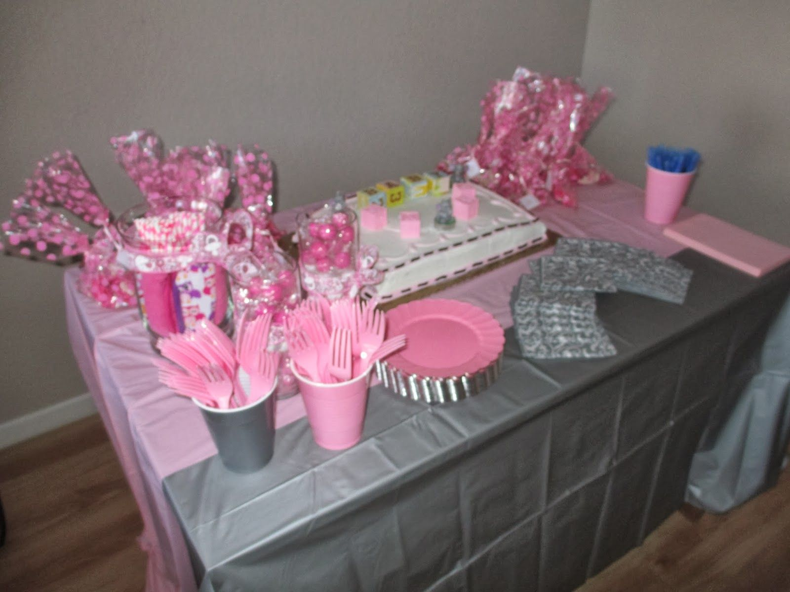 Pink and Grey Elephant Baby Shower Theme Baby shower