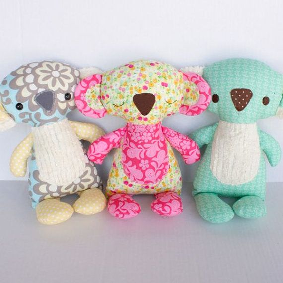 Koby Koala PDF Doll Pattern | Stoffreste, Stofftiere und Puppen