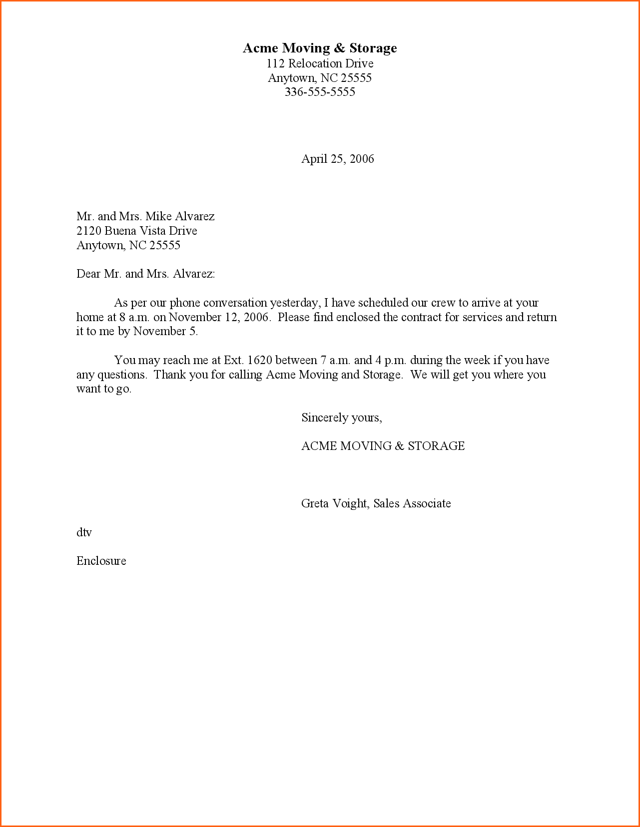 Block Style Business Letter Sample Contract Template Format Jpg