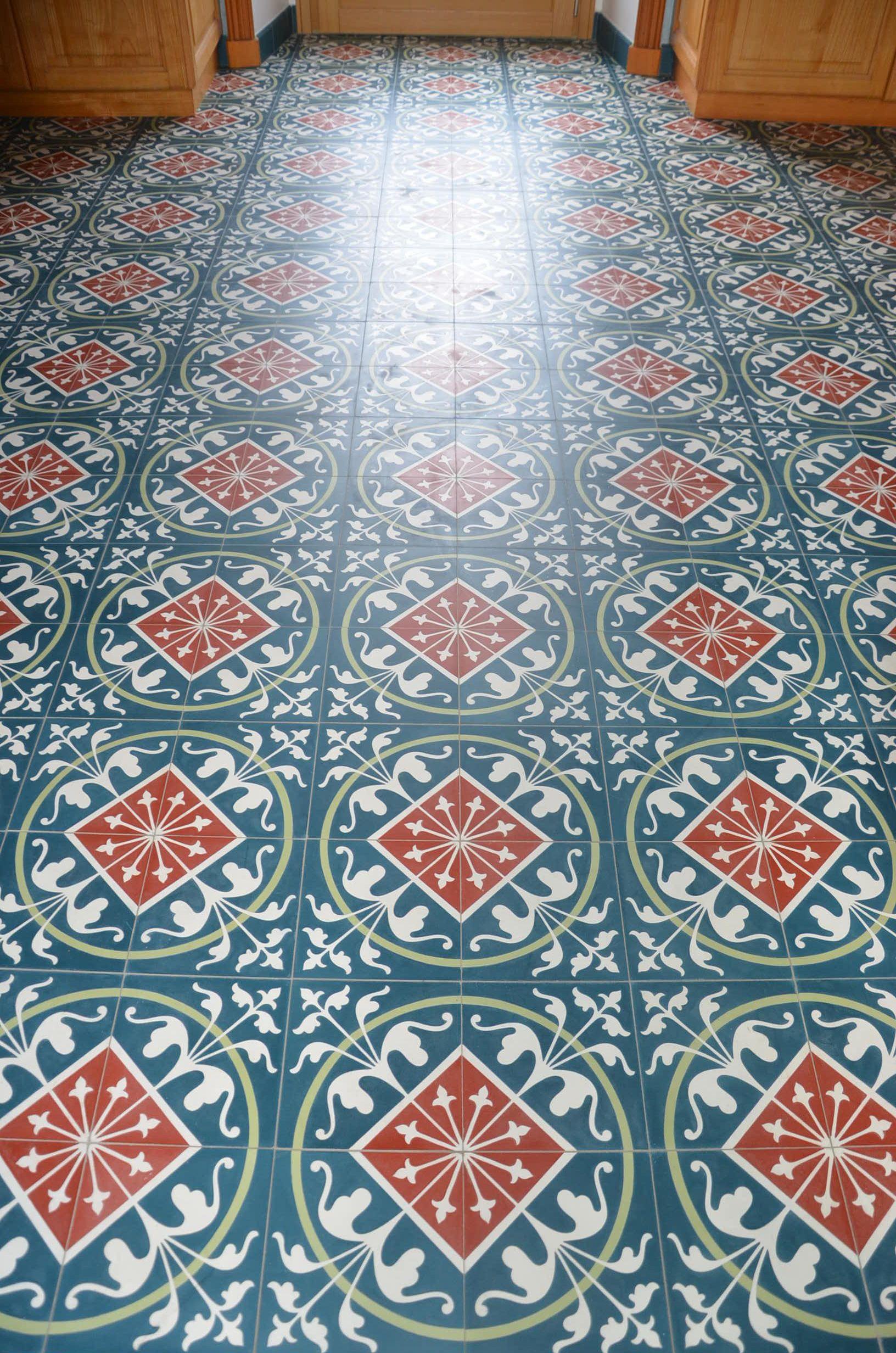 Carrelage Ciment Decor Bleu Royal Format Carreau 20x20xm Carrelages Du Marais Carreaux Ciment Carrelage Ciment Carrelages Du Marais
