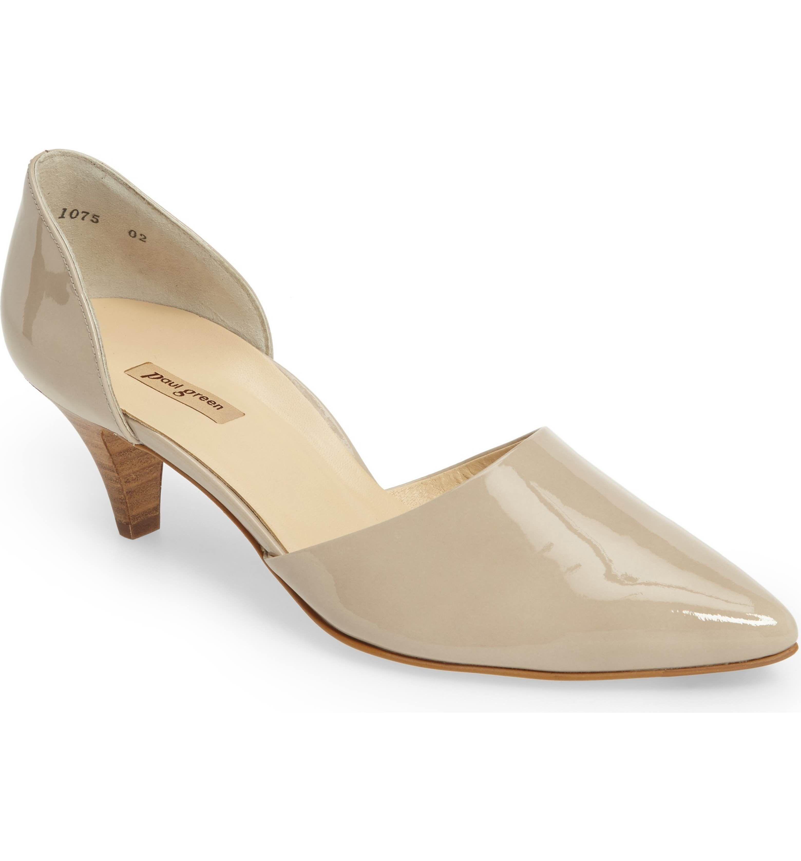 Main Image Paul Green Julia D Orsay Pump Women Paul Green Leather Block Heels Heels