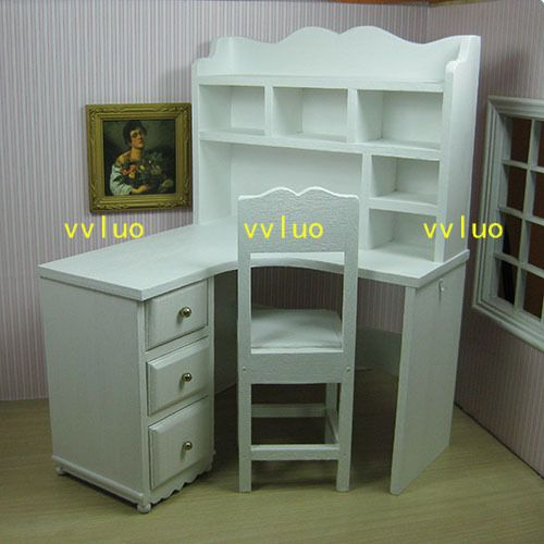 Doll Furniture Customized Desk Chair Set 1 6 Scale Silkstone Barbie Royalty