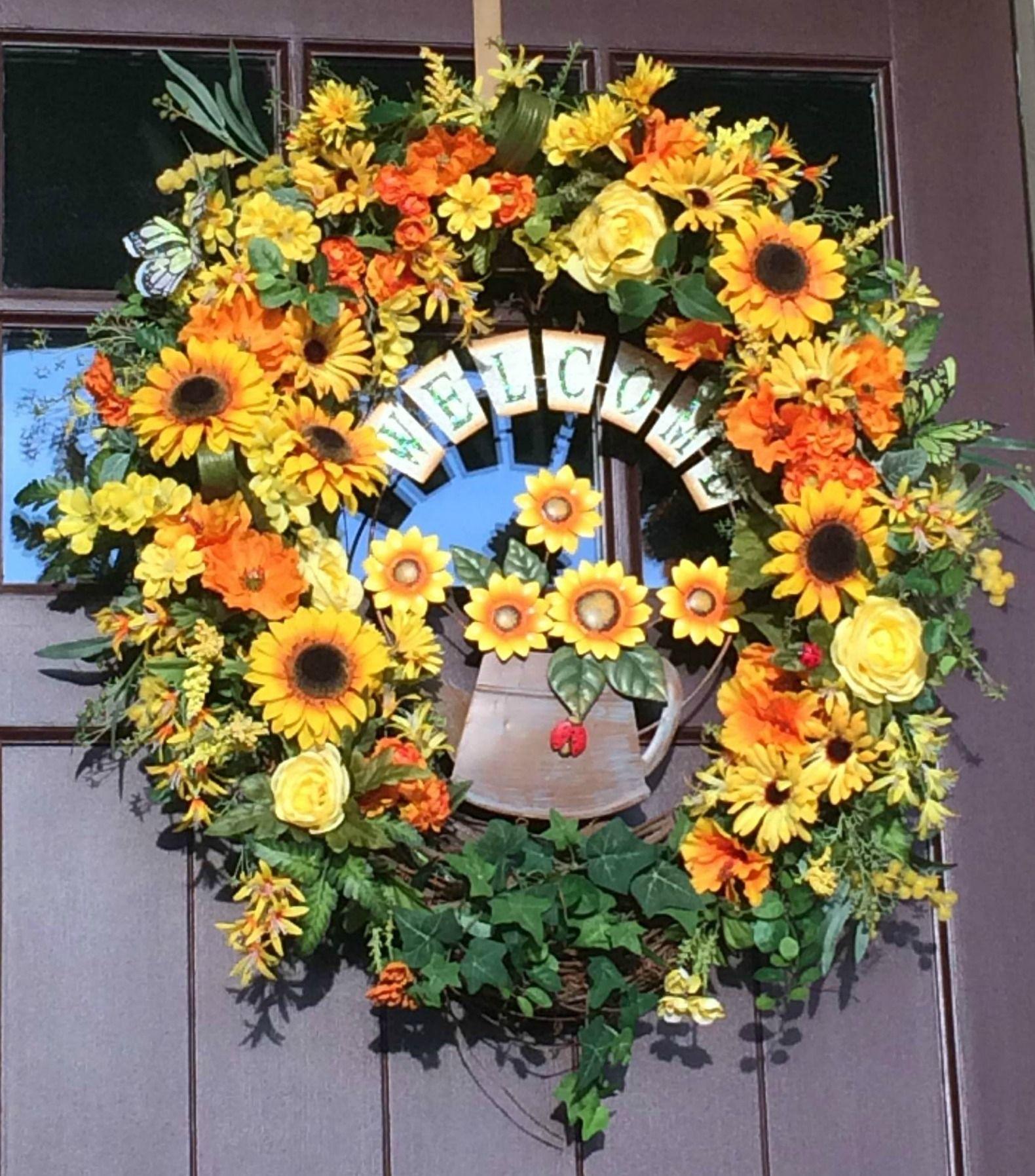 Genial Summer/Autumn Extra Large Door Wreath