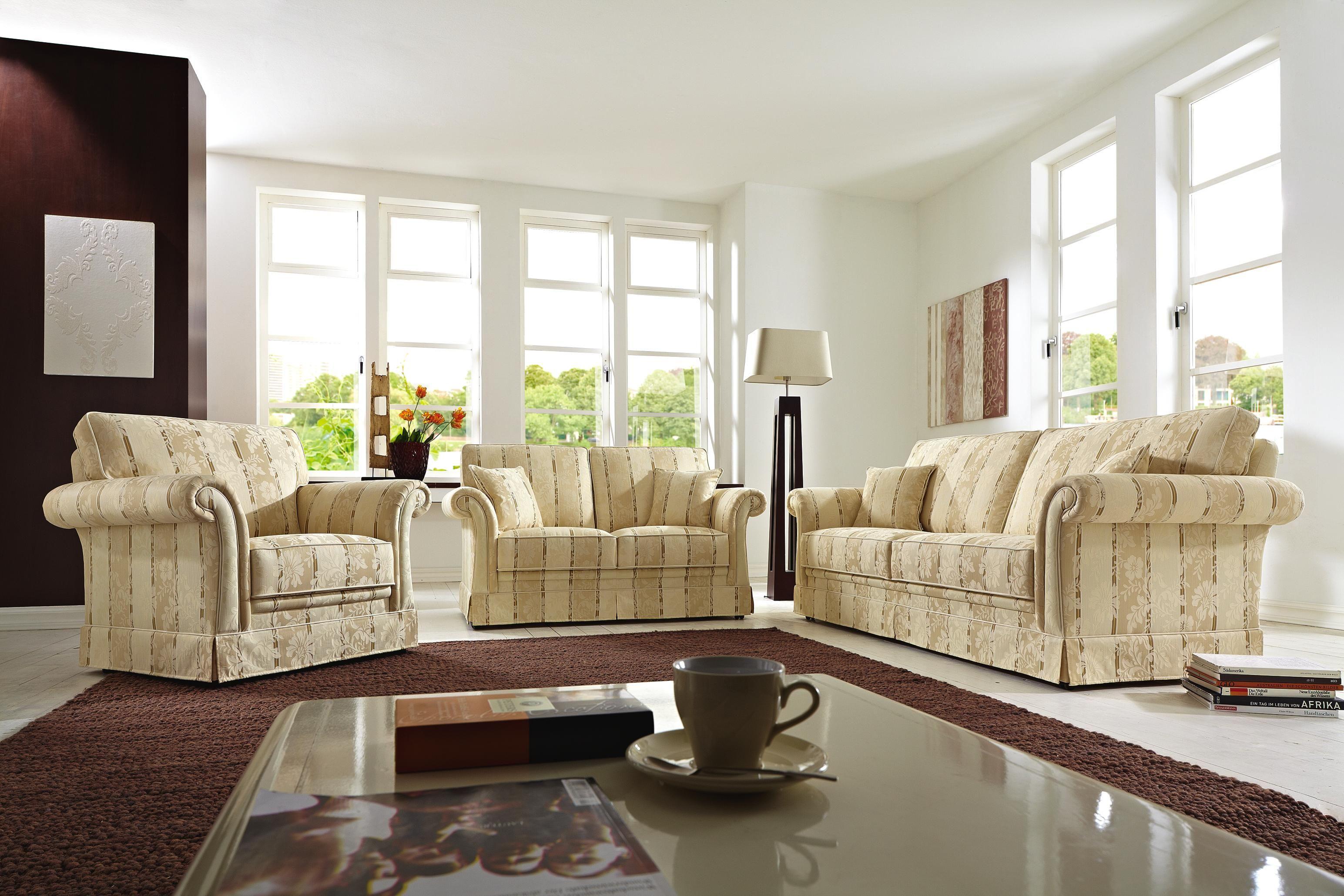 Sitzgarnitur In Textil Beige