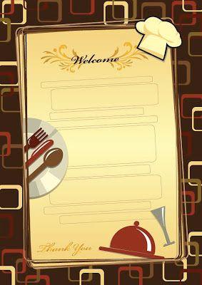 Menus Templates Free 10 Menus Para Restaurantes Editables Y Gratis  Utilidades Webblog .