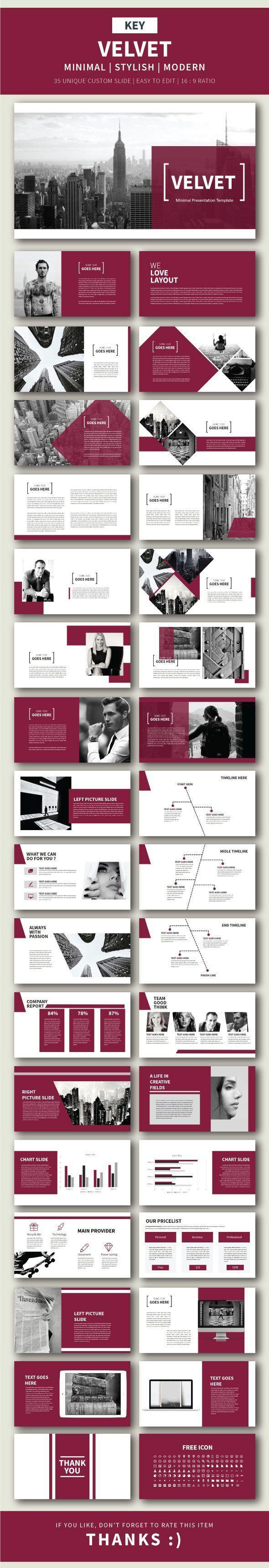 Velvet Keynote Presentation Template - Finance Keynote Templates ...