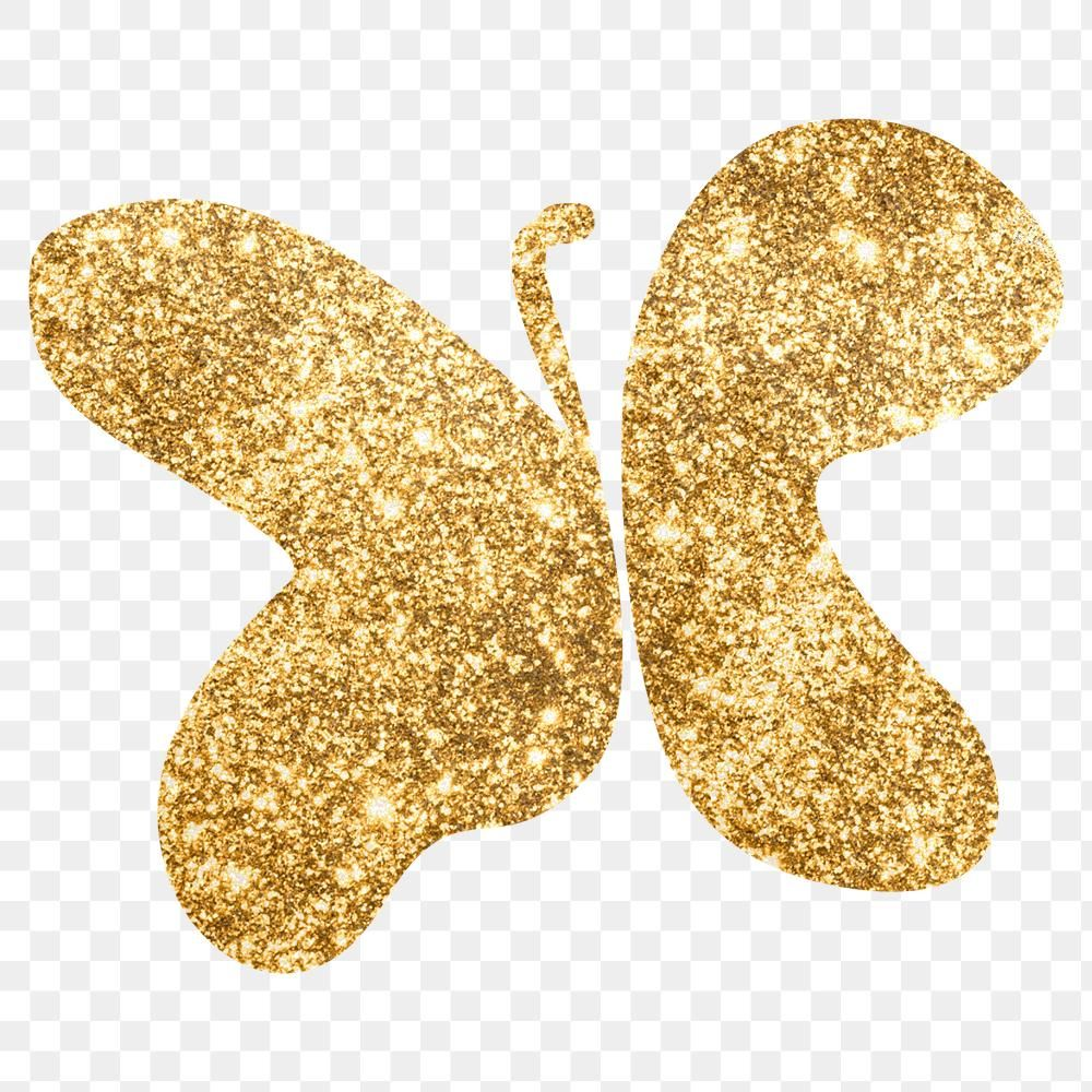 Download Premium Png Of Gold Glitter Png Butterfly Symbol 2591177 Glitter Glitter Paint Free Illustrations