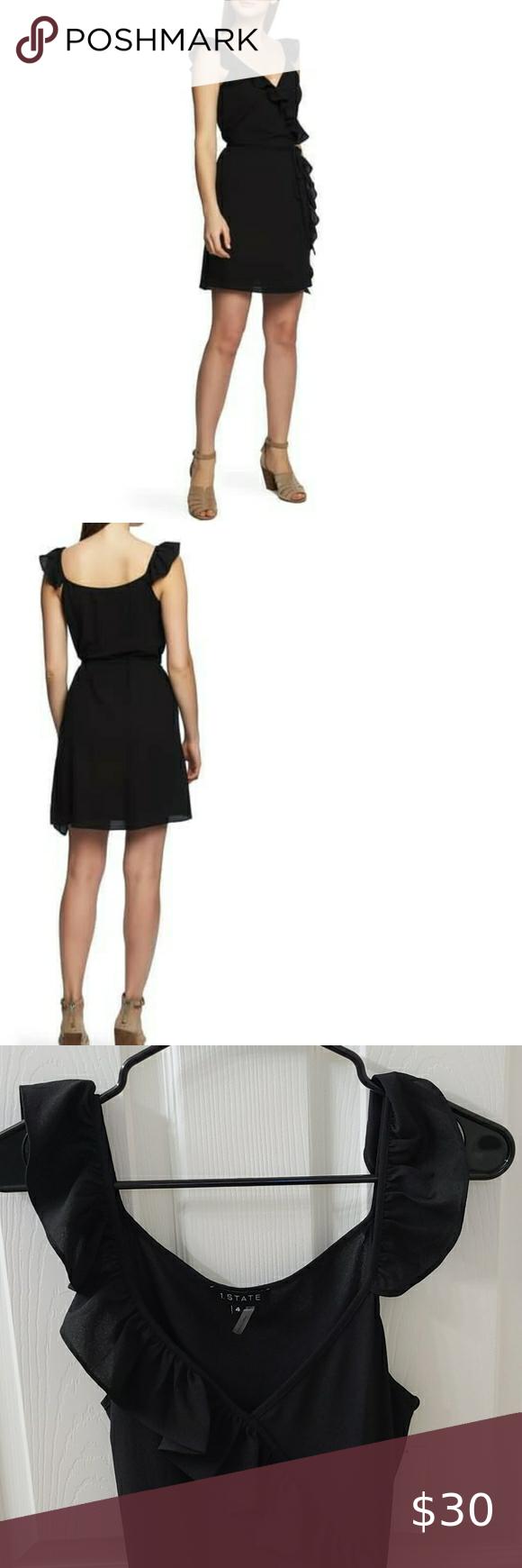 2 25 1 State Ruffle Wrap Dress Black Black Ruffle Sleeve Dress From 1 State Wrap Front Style Ruffle Detail Al Black Wrap Dress Ruffle Wrap Dress Wrap Dress [ 1740 x 580 Pixel ]