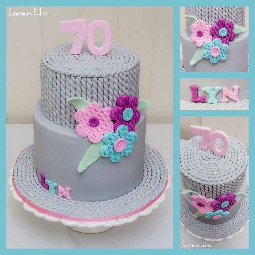 Knitting cake | Knitting cake, Cake, Beautiful birthday cakes