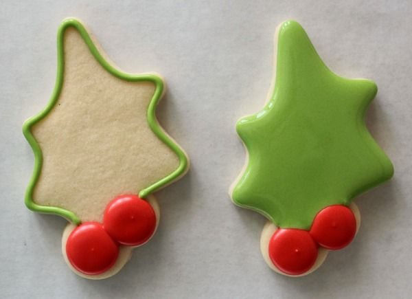 Decorated Holly Cookies 3 Cookies By Design Cookies Christmas