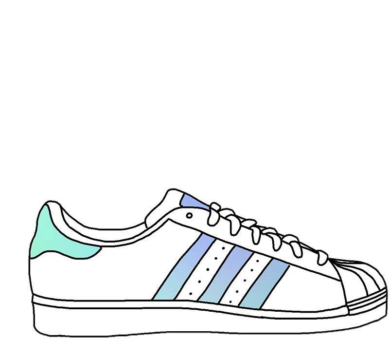 Colourful adidas shoe | Sko