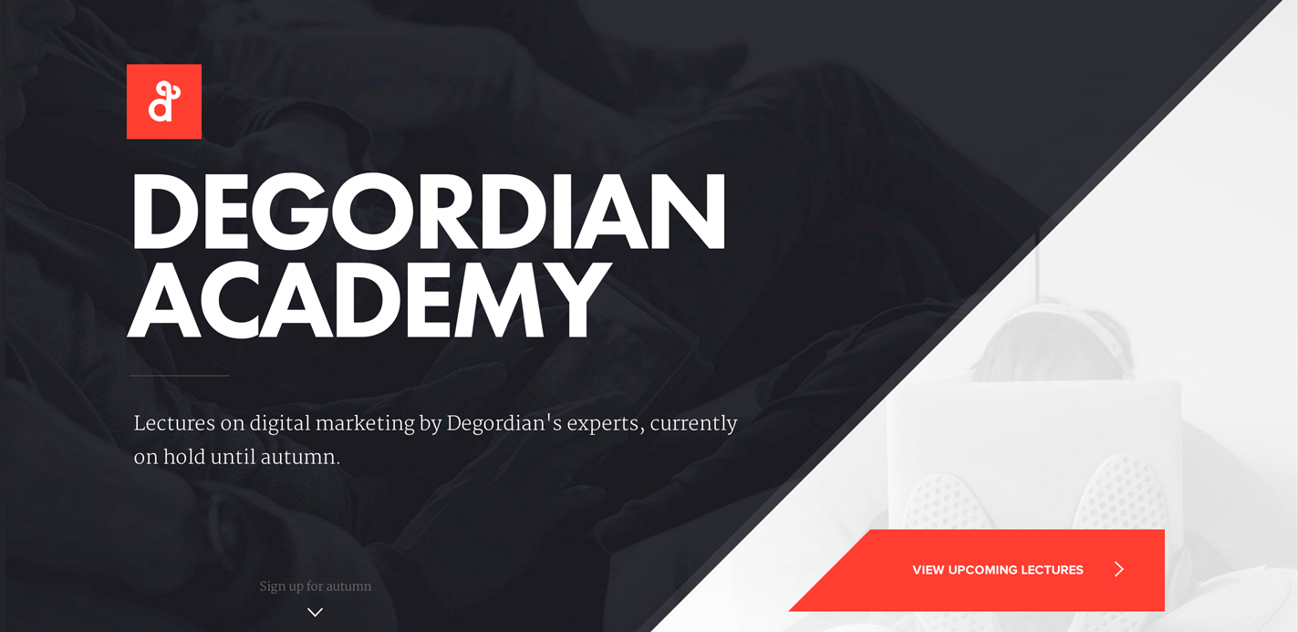 Degordian Academy by Degordian Agency. September 30, 2014. #webdesign #inspiration #UI #SOTD #Awwwards