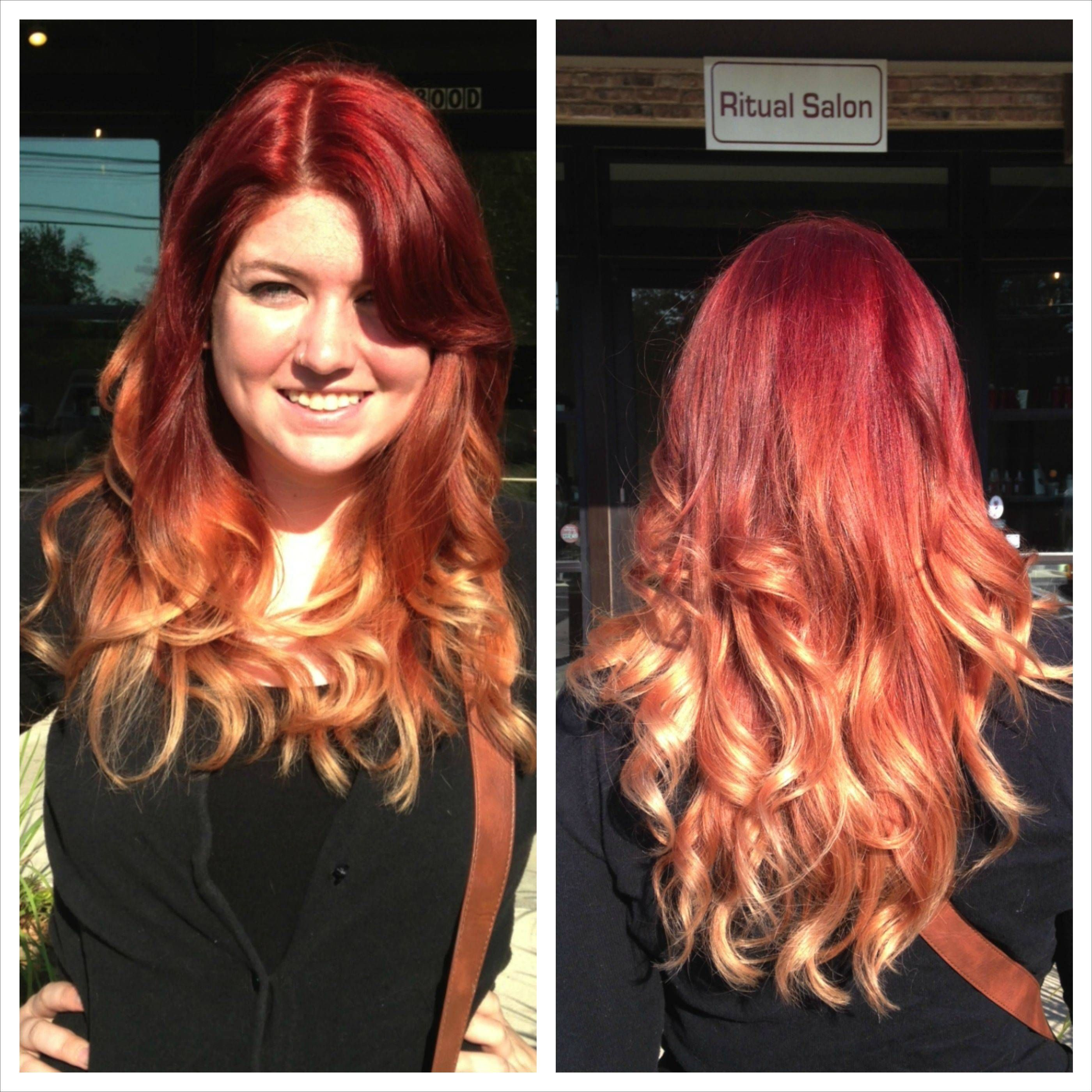 My LONG Red to Blonde Ombre thanks to Sarah at Ritual Salon