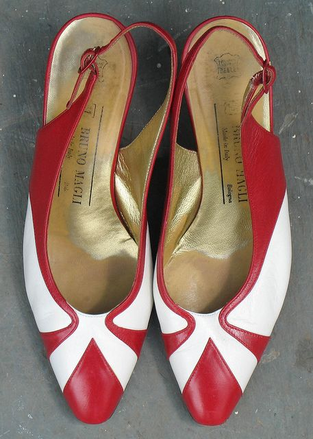 6a99c6fb6da ... white leather slingback heels in excellent condition from designer Bruno  Magli. Gold leather lining. Made in Bologna